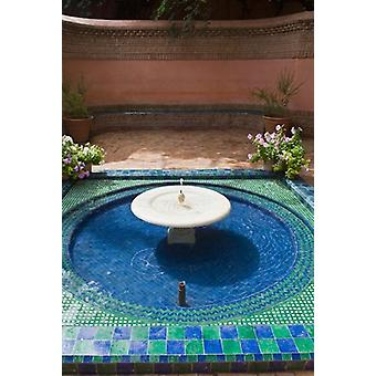 Jardin Majorelle Marrakech Morocco North Africa Poster Print by Nico Tondini