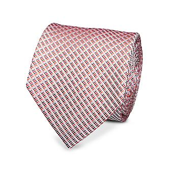 Marcell Sanders men's classic tie silk pink lined