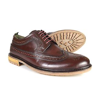 Silver Street London Fenchurch Mens Burgundy Leather Formal Brogues