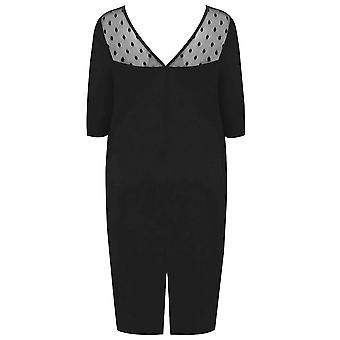 SCARLETT & JO Black Bodycon Dress With Sweet Heart Neckline