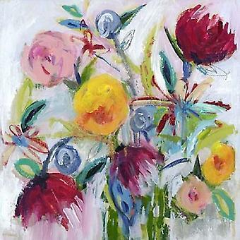 Happy Floral II Poster Print by Pamela J Wingard