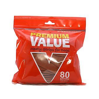 Premium værdi Semi fugtige kødfulde strimler 80 Pack (pakke med 4)