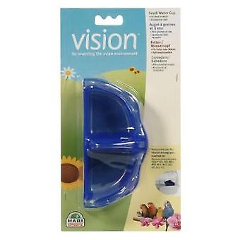 Vision BOWL FOR SEED / WATER, BLUE (Birds , Feeders & Water Dispensers , For Cages)