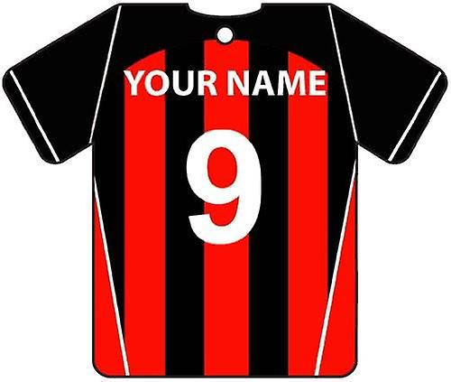 Personalised AFC Bournemouth Football Shirt Car Air Freshener