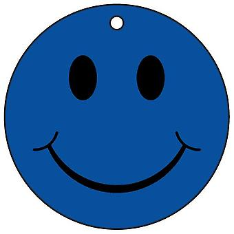 Blue Smiley Face Car Air Freshener