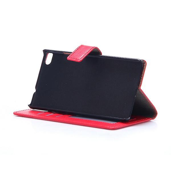Pocket wallet premium red for Huawei Ascend P8