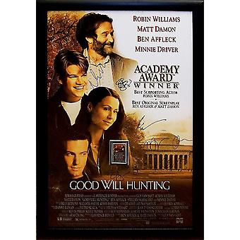 Good Will Hunting - undertecknat filmaffisch