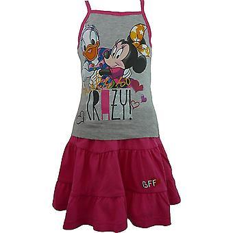 Girls Disney Minnie Mouse & Daisy Sleeveless T-shirt & Skirt Set