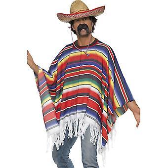 Poncho Mexikaner Kostüm Mexikokostüm Gr. L