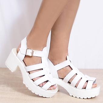 Koi Couture Ladies D13 White Wedged Sandals