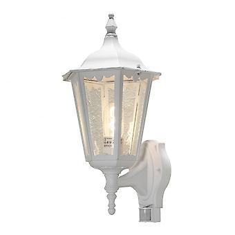 Konstsmide Firenze Upturned Wandlamp, wit met PIR