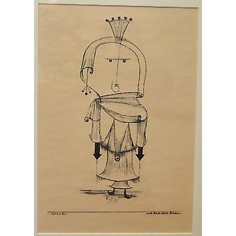 Paul Klee - The Witch with the Comb Poster Print Giclee