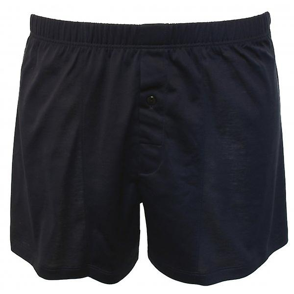 Hanro bomull Sporty Boxer kort, Midnight Navy