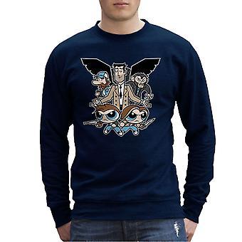 Supernatural Powerpuff Girls Men's Sweatshirt