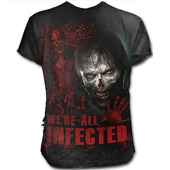 Spiral - ZOMBIE INFECTED - Mens Short Sleeve T-Shirt - Black