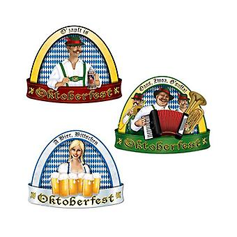 Traditionella Oktoberfest Cutout - 3-Pack