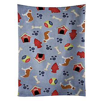 Carolines Treasures  BB3976KTWL Saint Bernard Dog House Collection Kitchen Towel