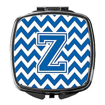 Carolines Treasures  CJ1056-ZSCM Letter Z Chevron Blue and White Compact Mirror