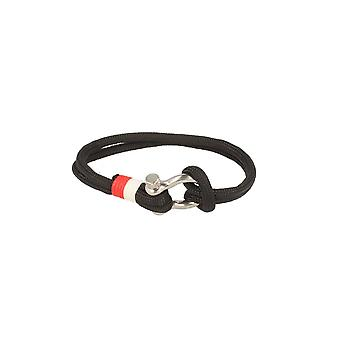 Baxter jewelry London bracelet nylon black white red jewelry sporty Cap 21.5 cm