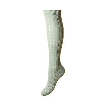 Tabitha luxury women's cashmere knee-high socks, grey | By Pantherella