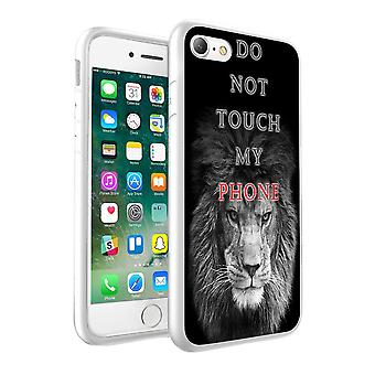 i-Tronixs Sony Xperia XZ Premium Do Not Touch My Phone Lion Design Printed Case Skin Cover - 003
