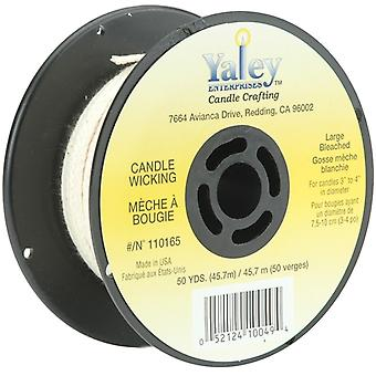 Candle Wicking Spool 50yd-Large Bleached  110165