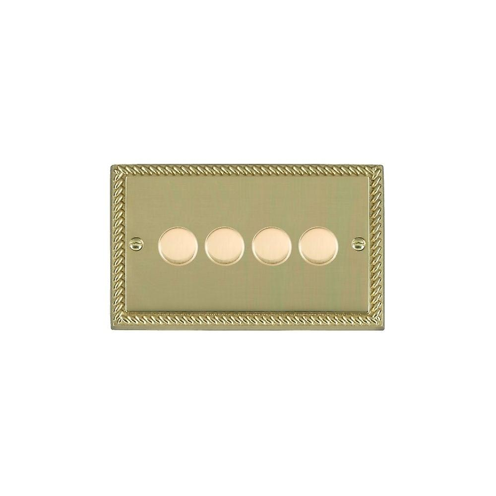 Hamilton Litestat Cheriton Georgian Polished Brass 4g 100W LED Dimmer PB