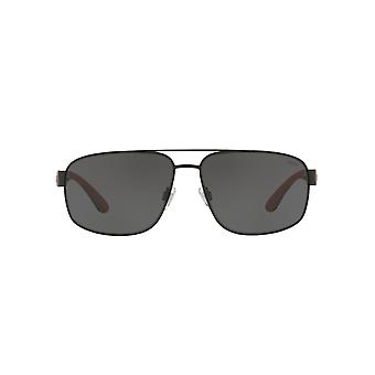 Polo Ralph Lauren Square Pilot Sunglasses In Matte Black