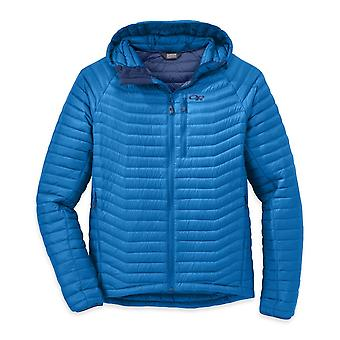 Outdoor Research Mens Verismo Hooded Down Jacket Glacier (Small)