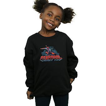 Marvel Girls Deadpool Sword Logo Sweatshirt