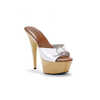 Ellie Shoes E-609-Barbara 6 Pointed Heel Mule With Buckle