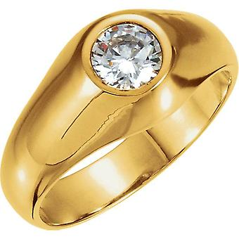 1.50CT Mens Diamond Solitaire Ring 14K Yellow Gold