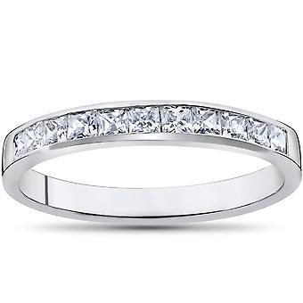 Prinsessa leikattu 1 / 2ct timantti vihkisormuksen ja vuotta 14K