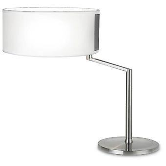 Wellindal Table Lamp Twist 1xE27 Max 60W Satin Nickel