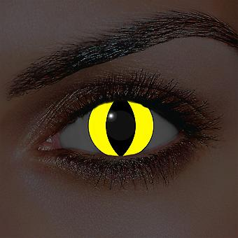 i-Glow Yellow Cat Contact lenses (Pair)
