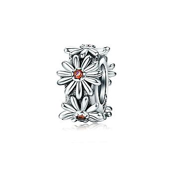Sterling silver spacer Sparkling daisy SCC598