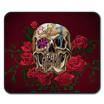 Роуз металла смерти череп мыши нескользящей мат площадку 24 см х 20 см   Wellcoda