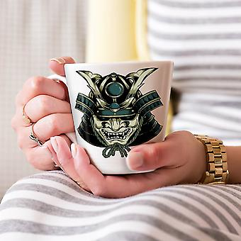 アジア マスク頭ファッション新しいホワイト ティー コーヒー セラミック カフェラテ マグカップ 17 oz |Wellcoda