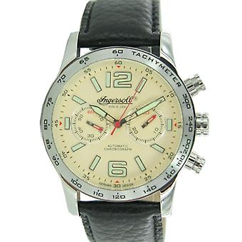Ingersoll clock Men Watch Chronograph Leather Bowie IN4606CR