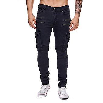 Mens skinny jeans One Public Colored Denim blue cargo Biker Style Chino-Like