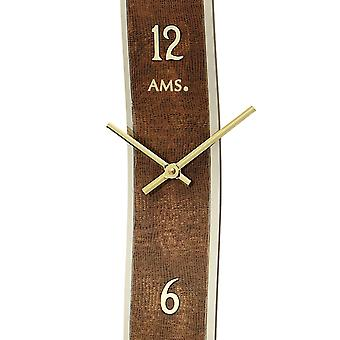 Quartz wall clock wall clock quartz Brown design leatherette application