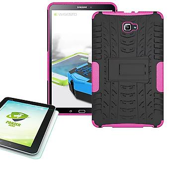 Hybrid outdoor bag Pink for Samsung Galaxy tab A 10.1 T580 + 0.4 tempered glass
