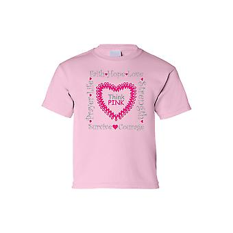 Barna Tee tror Pink Breast Cancer Awareness kort erme t-skjorte