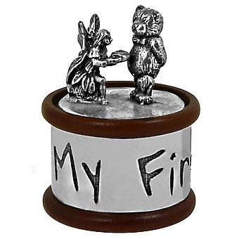 My First Tooth Pewter & Wood Box