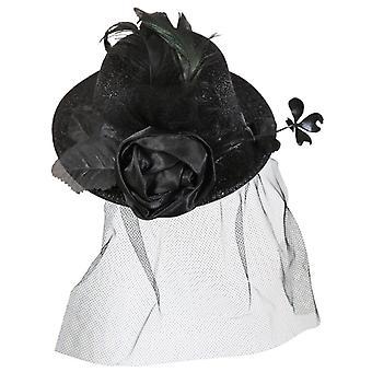 Louise Black Halloween mini hoed-sluier