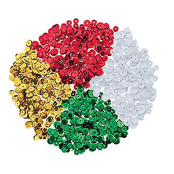 Bulk Buy 6mm Christmas Colour Round Cupped Sequins - 16000 |  Sequins for Crafts