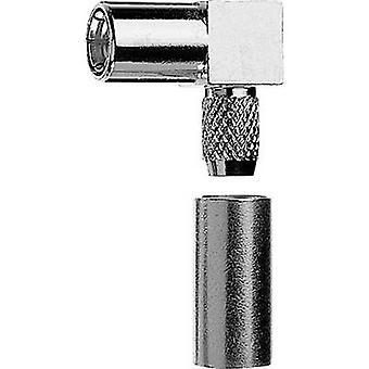SMB connector Socket, right angle 50 Ω Telegärtner J01161A0661 1 pc(s)