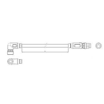 Conector do Sensor e atuador TE conectividade 2-2273124-4 (pré-fabricadas) M8 Plug, reta, soquete, certo ângulo 1,50 m, não. de pinos (RJ): 3 1 computador (es)