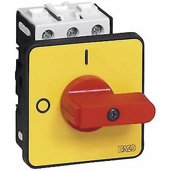 Isolator switch 32 A 1 x 90 ° Yellow, Red