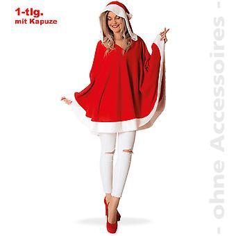 Poncho con capucha de Miss Santa Claus Nikolausin Santa Claus traje de las mujeres